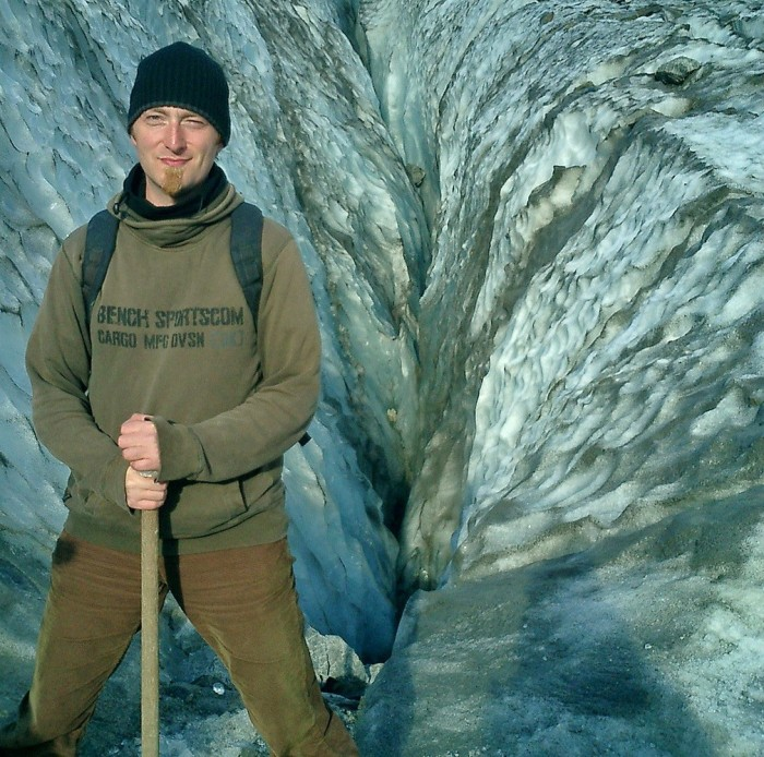 David J Rodger on Fox Glacier Southern Alps New Zealand - 2003