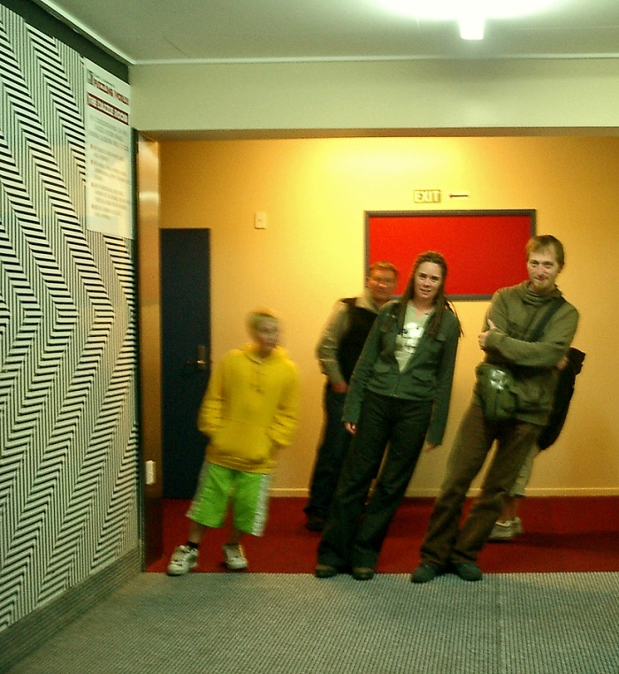 Djr at Puzzle World Wanaka in the weird room of ultimate leaning