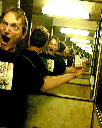 DJR skotel bathroom fun with mirrors - infinity loop