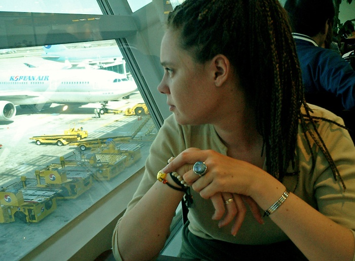 girl with dreads  Incheon Airport - Korea - Oj