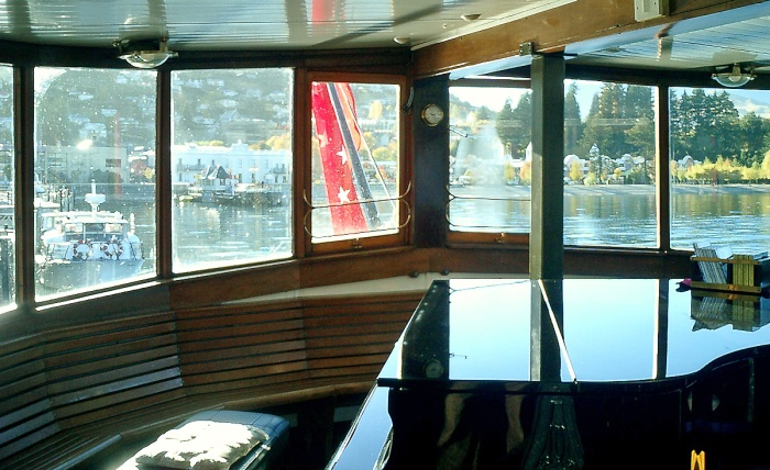 Grand piano aboard the TSS Earnslaw - Queenstown New Zealand 2003