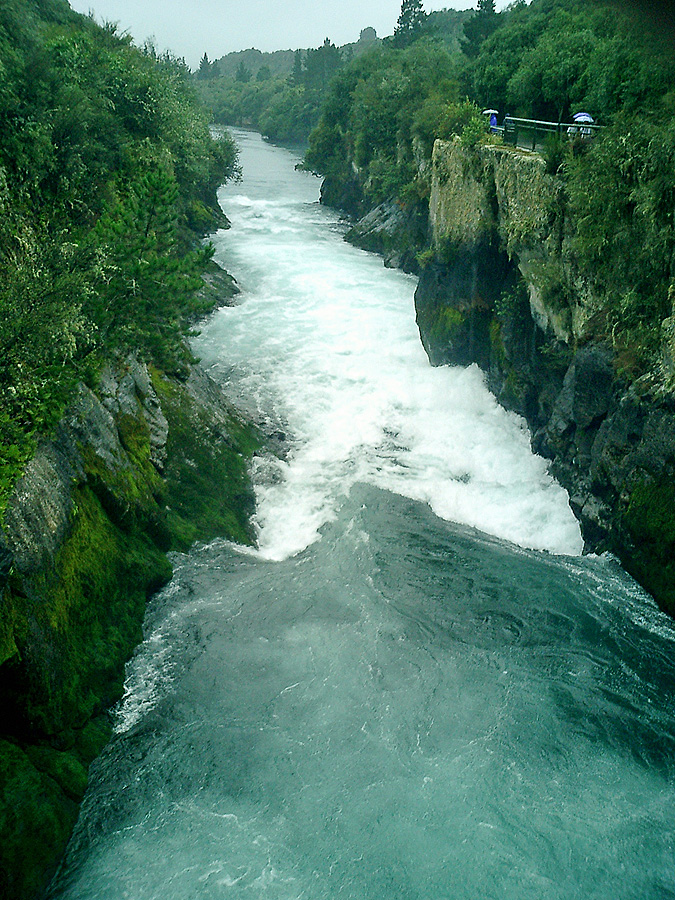 Huka Falls canyon New Zealand