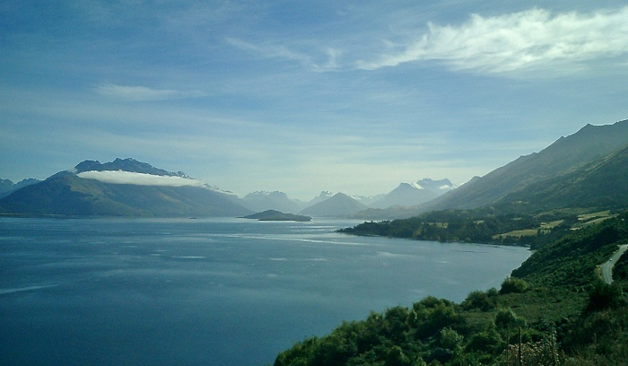 Incredible drive from Queenstown to Glenorchy New Zealand