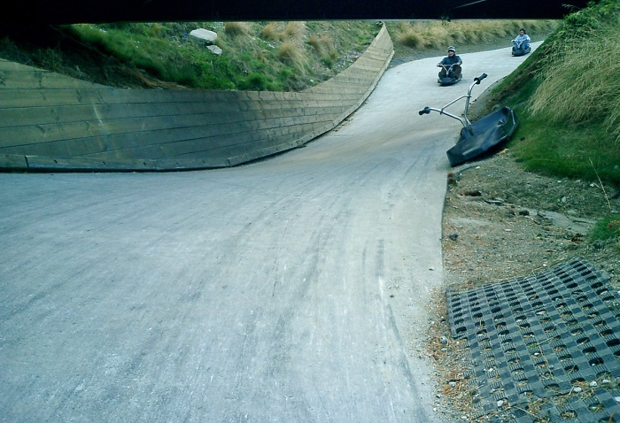 luge track above Queenstown New Zealand - David J Rodger