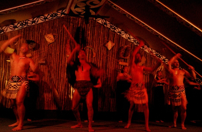 Maori Dancing Tamaki Village New Zealand