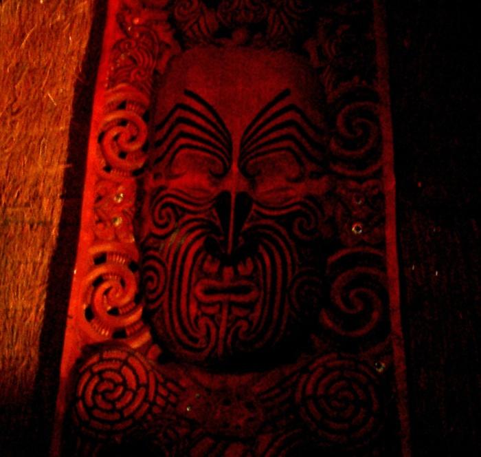 Maori devil mask New Zealand