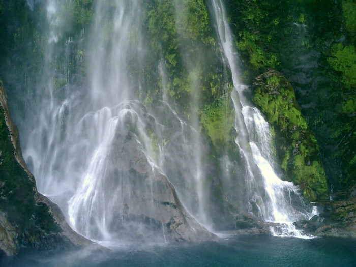 Milford Sound Waterfall New Zealand