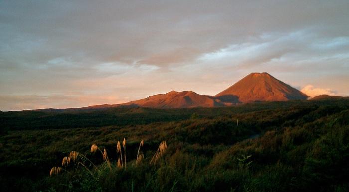 Mount Ngauruhoe as viewed from Skotel Whakapappa