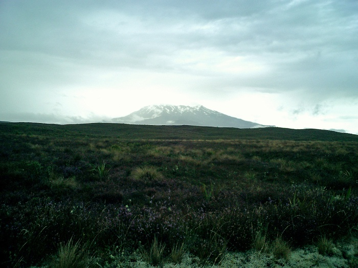 Mount Ruapehu 2003 - first glimpse - used in 2008 in the science fiction dark fantasy novel EDGE by David J Rodger