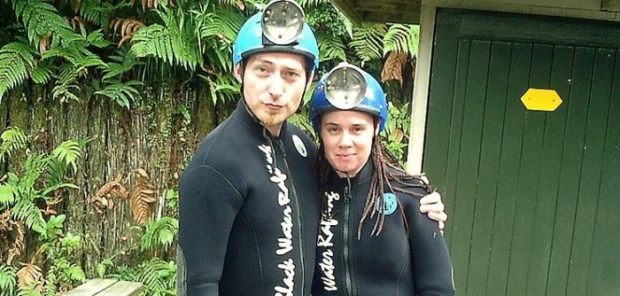 New Zealand Waitomo cave rafting Djr OJ