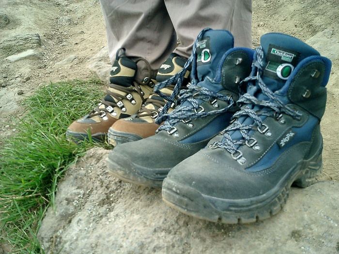 These are the boots that saw us cross New Zealand in one month