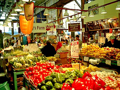 Travel Photo Canada 2003 by David J Rodger Granville Island Market