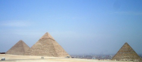 Travel Photo Egypt Nile Cruise - Great Pyramids of Giza- Davi d J Rodger