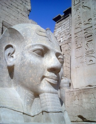 Travel Photo Egypt Nile Cruise Photos by David J Rodger Luxor Temple face of the pharaoh