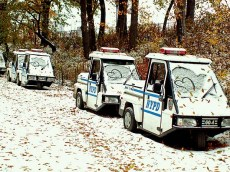 New York - travel photo - central park police buggies love graffiti