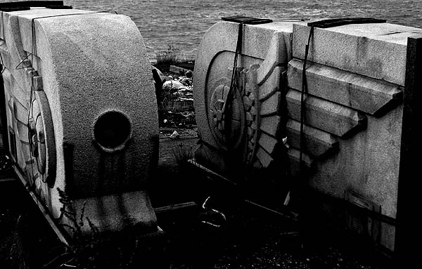New York - travel photo - discarded relics of the past at Manhattan docks