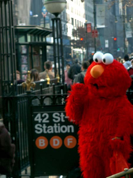 New York - travel photo - Elmo in Manhattan -Sesame Street character