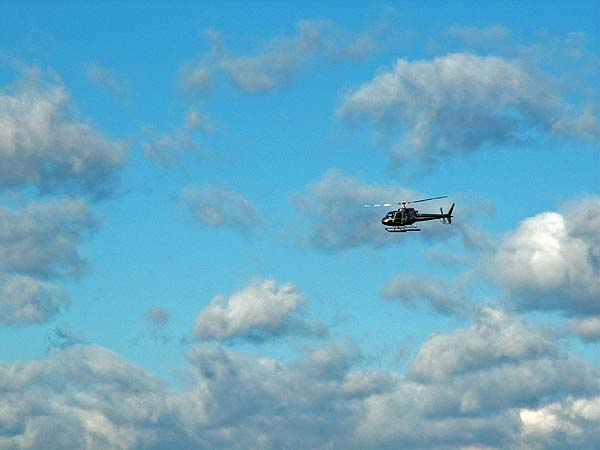 New York - travel photo - helicopter over Manhattan