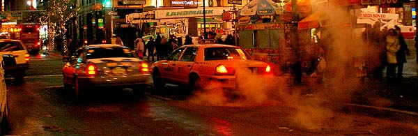 New York - travel photo - Manhattan Yellow Cab and subway steam
