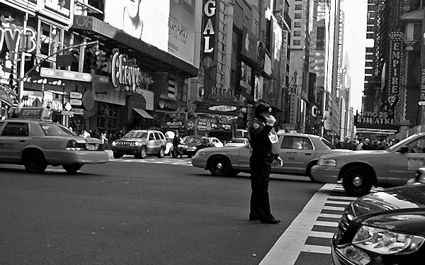 New York - travel photo - traffic cop in Manhattan