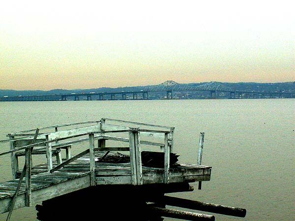 New York - travel photo - view of Tappan Zee Bridge crossing the Hudson from post-apocalyptic Piermont