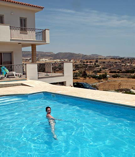 Travel photo Cyprus remote villa on edge of mountains private swimming pool