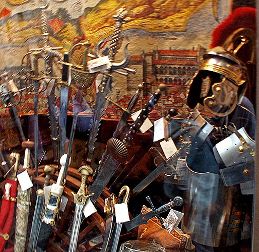 Toledo medieval weapons and Roman armour