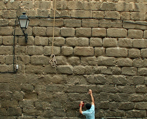 Toledo - Man's impossible reach for a rope