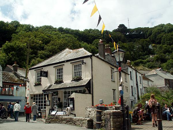 Cornwall England - travel photo - quaint town pub