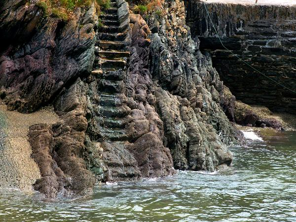 Cornwall England - travel photo - smuggler steps