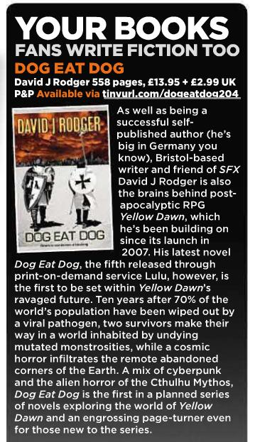 Article by SFX.co.uk on Dog Eat Dog cyberpunk horror novel by David J Rodger