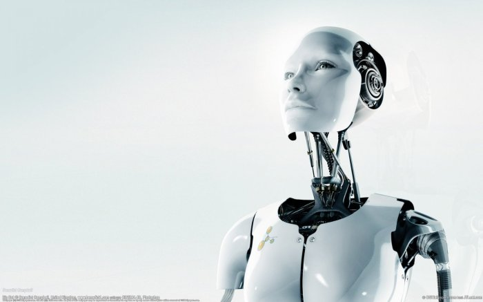 Big Bot - art by Benedict Campbell - Cyberpunk Science Fiction Art - robot head and torso - Sony Houseman concept