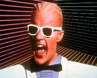 Max Headroom wearing cool 80s shades