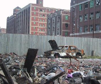 detroit example of urban decay and city becoming wasteland