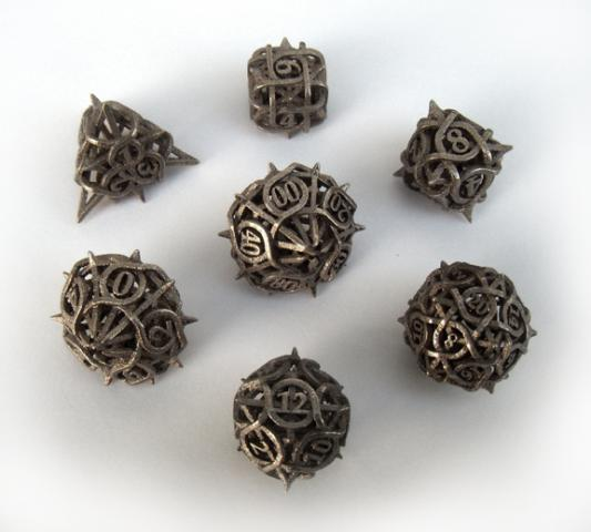 Game geeks Thorn dice for role-playing games RPG by ceramicwombat