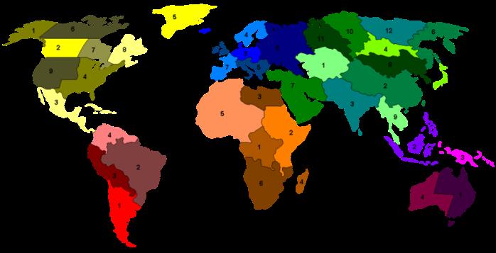 Risk world map