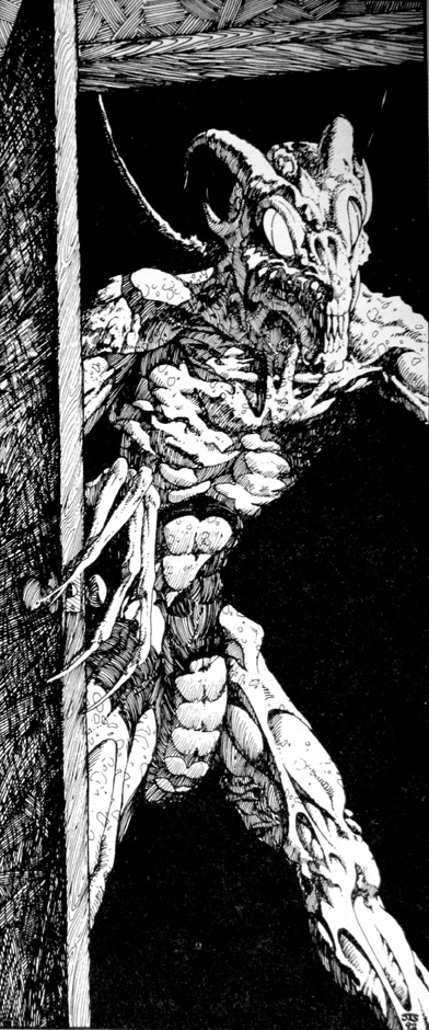 Byakhee illustration by John T Snyder taken from Call of Cthulhu scenario - A Happy Famliy - published by Chaosium