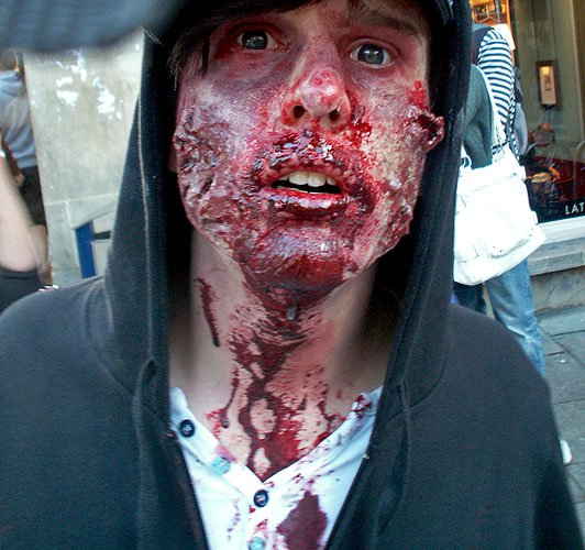 zombie walk Bristol 2010 photo by science fiction and dark fantasy author David J Rodger