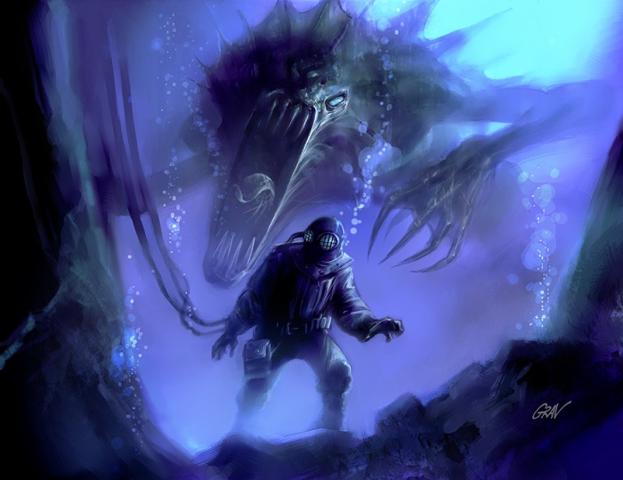 lloiger - race of Mythos Great Old Ones can manifest as dinosaur - image by Anti-Grav