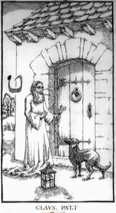 Woodcut Engraving from The Ninth Gate Open that which is closed by Lucifer
