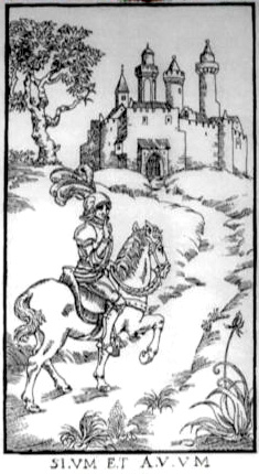 Woodcut Engraving from The Ninth Gate Silence Is Golden by Aristide Torchia