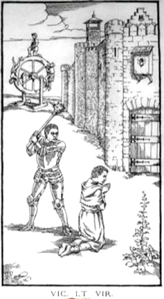 Woodcut Engraving from The Ninth Gate Virtue is conquered by Aristide Torchia