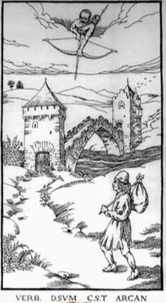 Woodcut Engraving from The Ninth Gate Wasted breath keeps a secret by Lucifer