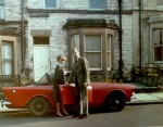 1967 my mum and dad with sunbeam alpine previously owned by vidal sassoon