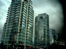 Apartment Buildings in Vancouver - a suburb of green green glass