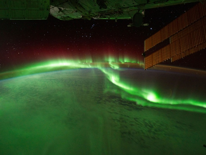 aurora australis viewed from International Space Station - image by ISS Nasa - all rights reserved