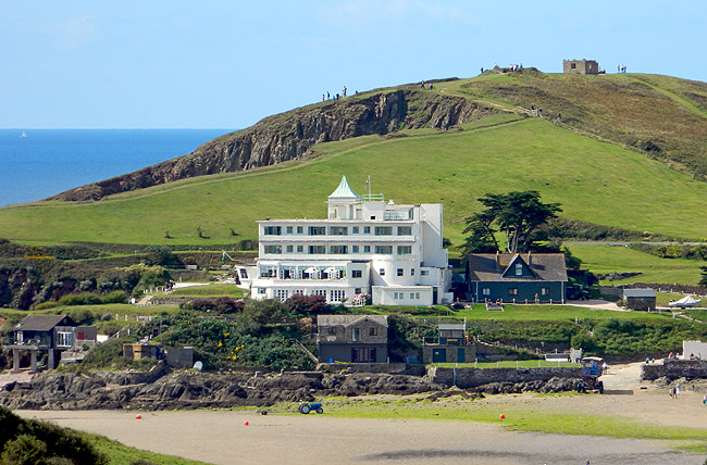 Burgh Island, Devon, original 1930s hotel and location used in Agatha Christie Evil Under the Sun