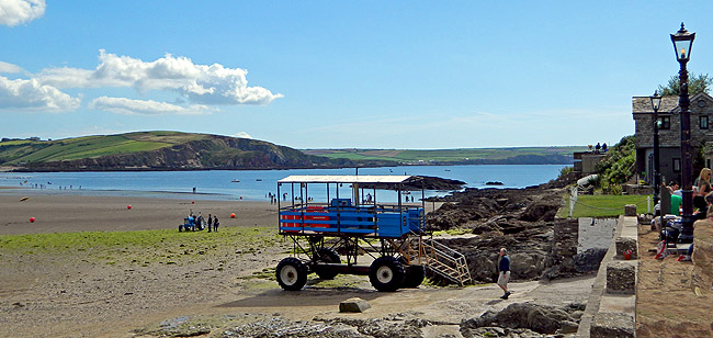Burgh Island, Devon. The Sea tractor as used by David Suchet as Poirot in Evil Under the Sun