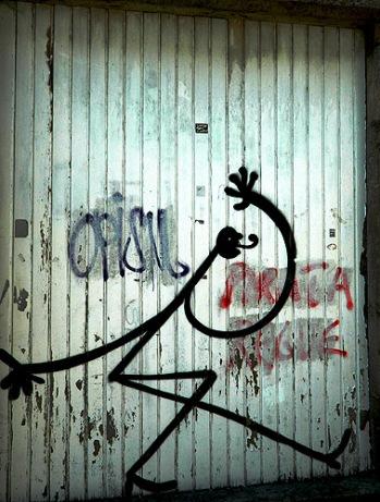 Curly Wurly Stick Figure - Santiago Spain
