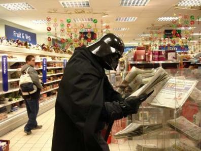 Darth Vader in Sainsburys